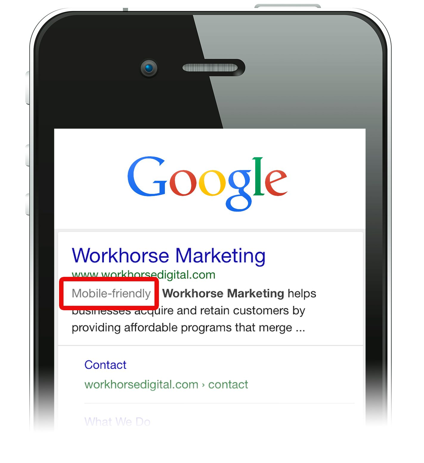 Mobilegeddon starts today, and it's serious post by Workhorse Digital out of Austin, TX